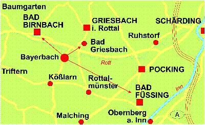 Bad Füssing Umgebung Landkarte